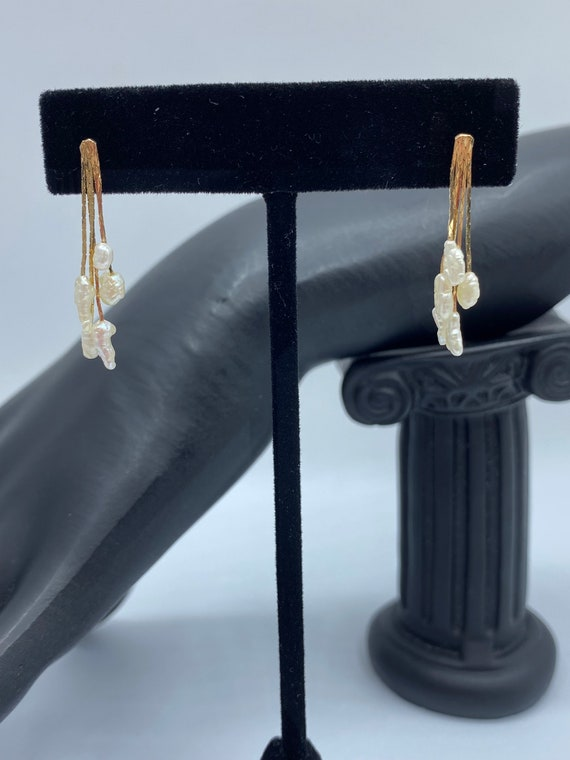 Vintage Freshwater Pearl and 14k Gold Bead Set - image 4
