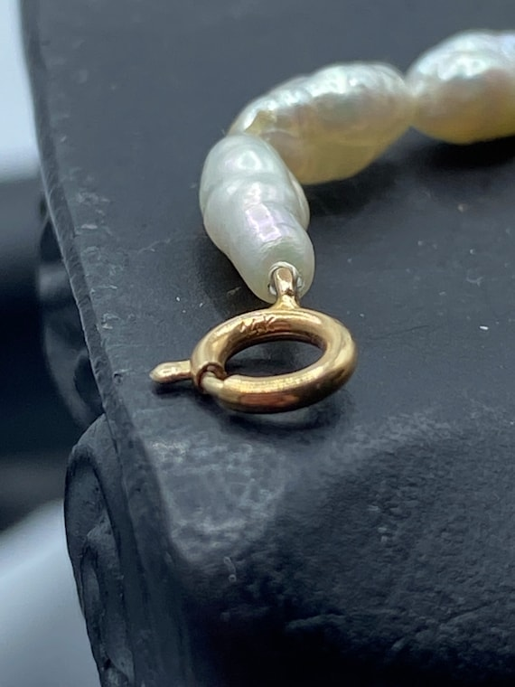 Vintage Freshwater Pearl and 14k Gold Bead Set - image 6