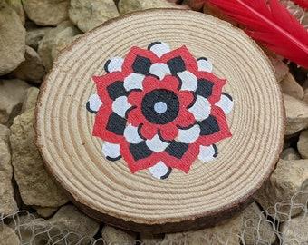 Floral Mandala magnet, Wooden fridge magnet, Cute Refrigerator Magnet, Boho Kitchen and Home Decor