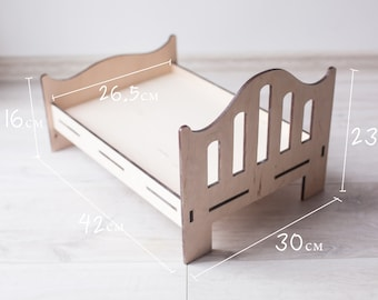 Baby Folding Chair Photography Props,Wooden Folding Recliner Retro Photography Props Baby Posing Cot Crib Photo Shoot,Detachable Portable Durable Photography Shotting for Newborn