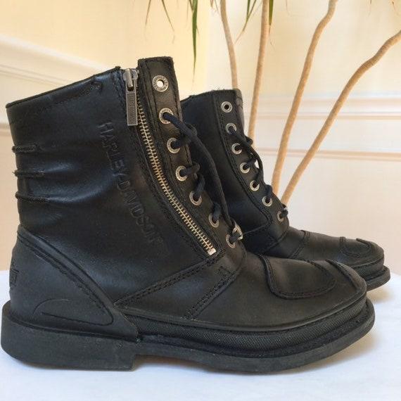 Harley-Davidson retired moto boots black leather l