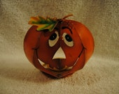 Pumpkin Metal Halloween Table Top Stand Alone Decoration 6 quot By 5 quot