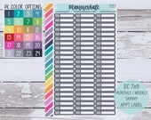 CLR-5 || CUSTOM COLOR Skinny Appointment Planner Stickers (S-984) photo