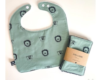 Baby bib and wipes kit
