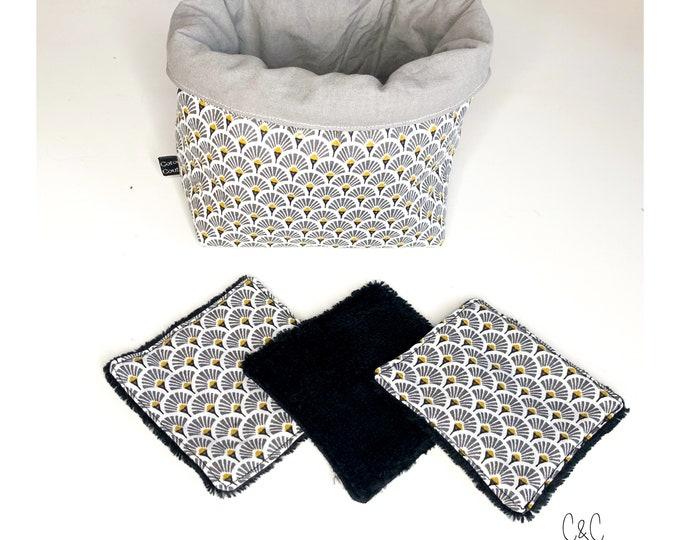 Basket set and fan washable wipes