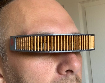 Star Trek The Next Generation TNG Geordi La Forge Visor replica, 2 Sizes available, Ideal Cosplay
