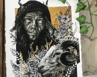 SOLITUDE - 11x14 giclée art print