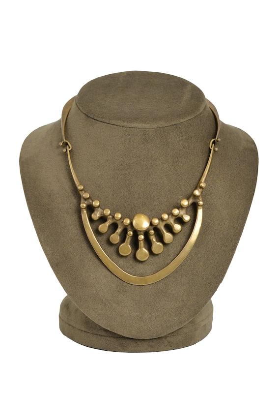 Vintage Jack Boyd Brutalist Bronze Spore Necklace