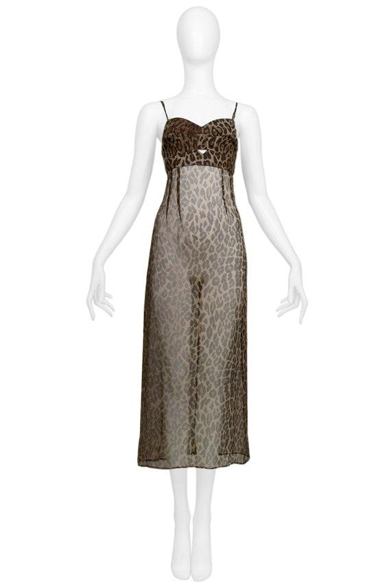 DOLCE ICONIC LEOPARD slip dress 1997