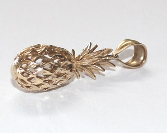925 Sterling Silver Pineapple Pendant Necklace Vintage Rare Find Unique collectible Quality Hallmarked Fine Jewelry Gift For Her Ships Free