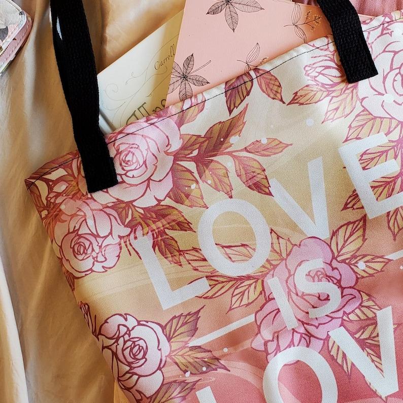 Love is Love Mermaid Tote Bag Double-Sided