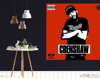 "Nipsey Hussle /""TMC/"" Poster Wall Art Music Ablum Decor HD Print"