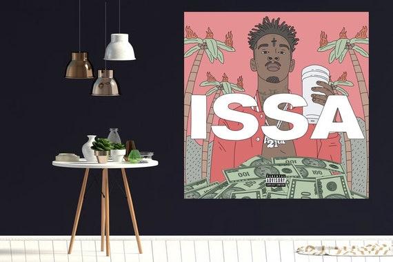 21 savage issa poster 24x24 18x18 album cover k12 etsy etsy