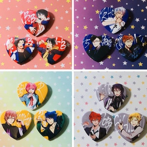 Division Rap Battle badges Pins Schoolbag Anime HypnosisMic