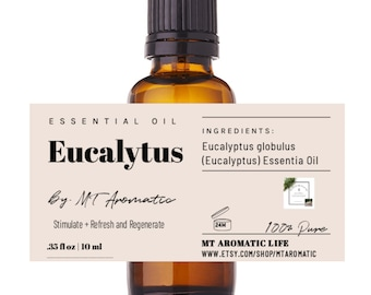 Eucalyptus Organic Essential Oil -100% Pure Organic Eucalyptus Oil -Therapeutic grade, Breathe Ease, Focus -Aromatherapy, Natural Skincare