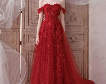 Red Wedding Dress Etsy