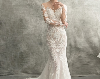 Lace Mermaid Wedding Dress Etsy,South Indian Wedding Reception Dress Ideas For Bride