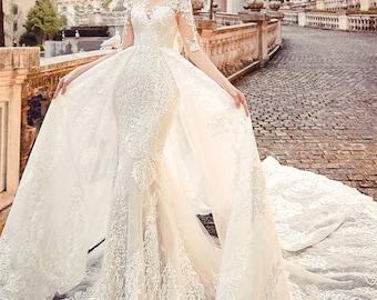 Lace Mermaid Wedding Dress Etsy,Pretty Black Dresses For A Wedding
