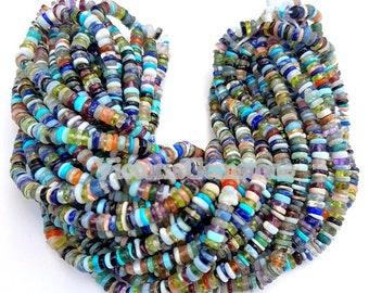 Purple Amethyst Gemstone Tyre Beads Heishi 11 Strand Lot Beads Supply TB-97 4-5.5.5 mm DIY Beaded Findings Wheel Beads DIY Makings