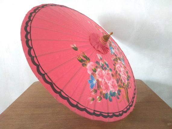 Vintage umbrella, Chinese umbrella, Bamboo parasol
