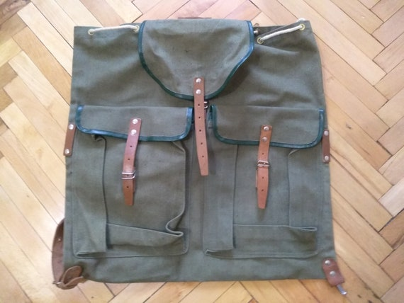 Old Backpack, Never Used, Military backpack, Canva