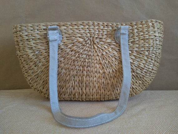 Old Wicker bag, Wicker Handbag, Summer bag, Vintag
