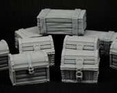 Treasure Chests Set x9 - props for miniature tabletop dnd gaming