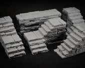 Stone Dungeon Stairs Set - props for miniature table top dnd gaming