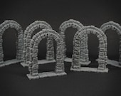 Stone Archway 6x - props for miniature tabletop dnd gaming