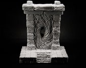 Large Stone Portal - props for miniature table top dnd gaming