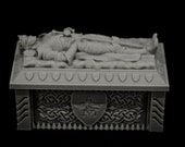 Kings Sarcophagus - props for miniature tabletop dnd gaming