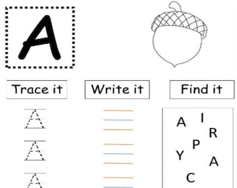 Uppercase And Lowercase Alphabet Tracing Worksheets | Preschool Printable Worksheets | Preschool Busy Book | Hand Lettering Worksheets