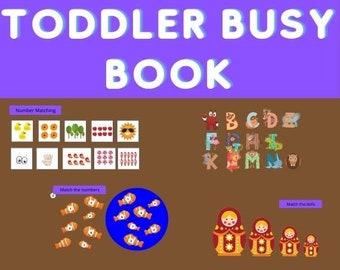 Toddler Busy Book | Toddler Learning Binder # 1. Printable Toddler Busy Binder. First Toddler Busy Book. Toddler Learning Folder