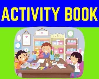 Kindergarten to Grade One Worksheets - Scissor Cutting Printable - Toddler Learning Binder - Busy Binder- Cut And Paste Worksheets