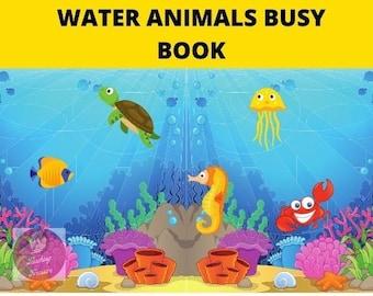 Water Animals | Water Animals Printable | Flashcards