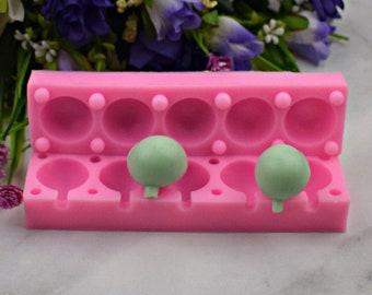 3D Lollipop Mold Silicone Cake POP Molds Lollies Bonbon Chocolate Fondant  Mold Candy Mold, Sugar Craft