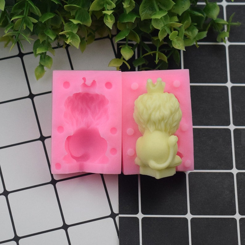 3D Lion Mold Silicone For Candy Chocolate Mousse Cake Decoratio Candle Planster DIY