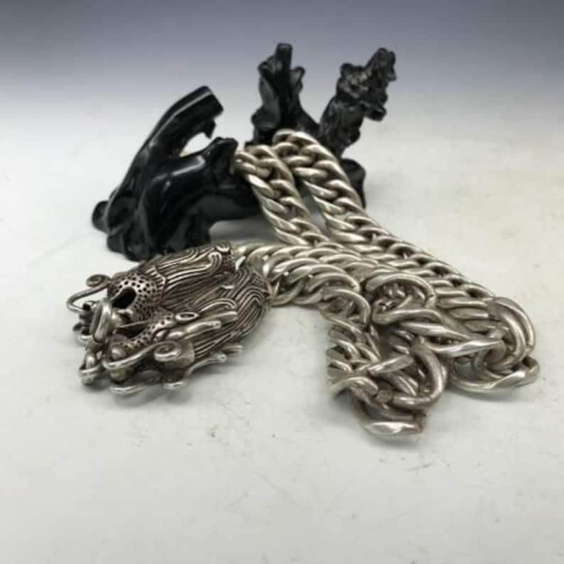 China/'s Tibet silver handmade craft fine necklace