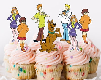 SCOOBY DOO GANG EDIBLE WAFER /& ICING PERSONALISED CAKE TOPPERS DECORATION SHAGGY