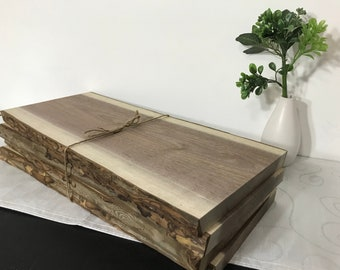 Walnut Live Edge Personalized Cutting Boards Make Your Own | Unfinished Walnut Charcuterie Boards | Walnut Boards | Wood Serving Tray