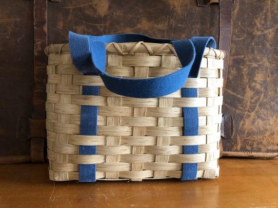 Handwoven Market Basket | Mail Basket | Flower Bas