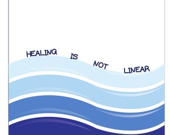 Healing Is Not Linear Digital Print, Mental Health Poster, Quote, Therapy, Counsellor, Psychologist Office Wall Art