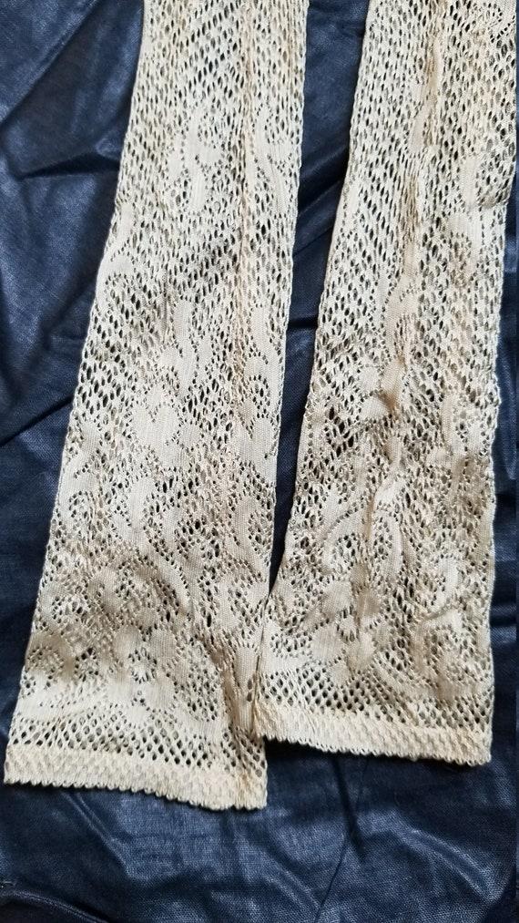 Antique RARE Victorian Cream Lace Gloves DEADSTOCK
