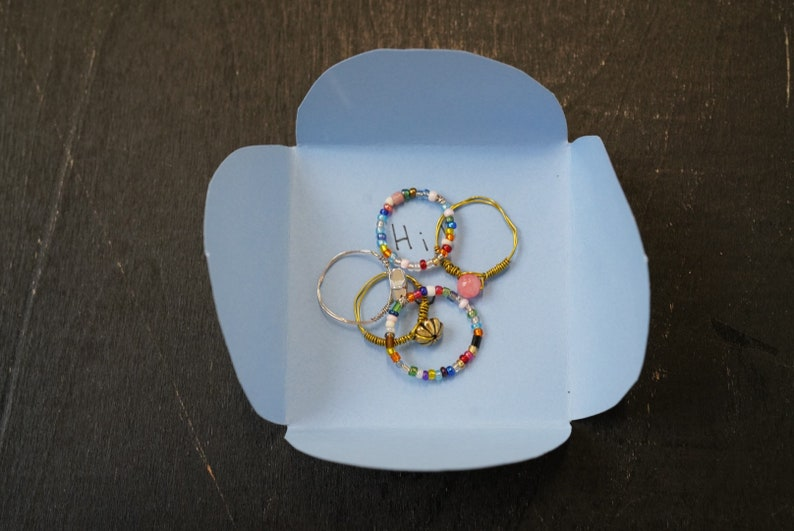 Set Of Surprise Wire Rings
