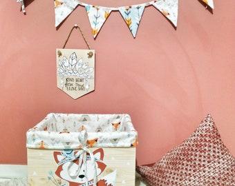 Liberty pink and gold customizable fairy fox toy basket liberty adelajda sun