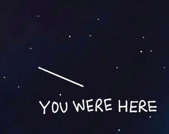 you were here sticker
