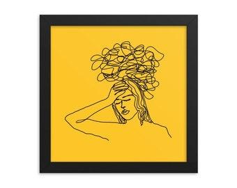 dizzy in sunshine, 10x10 framed wooden print