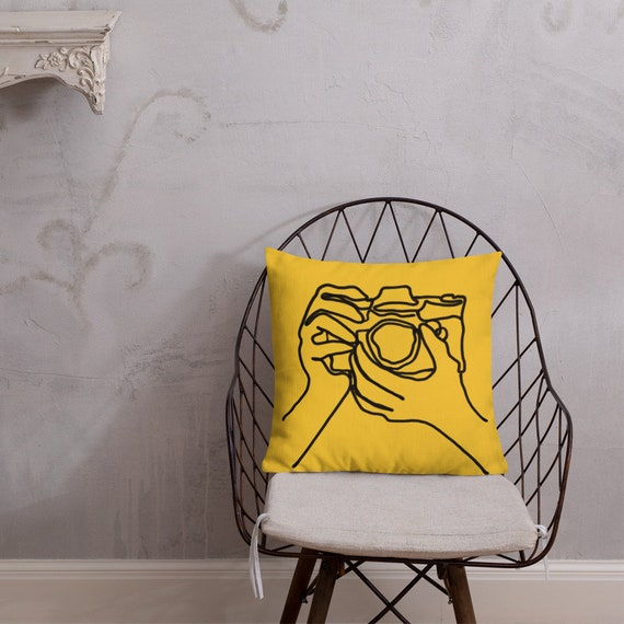 big brother throw pillow in sunshine (18 x 18)