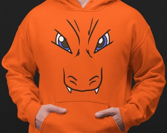 Pokemon Charmander Charmeleon Charizard Game Pullover Sweatshirt Hoodie Sweater