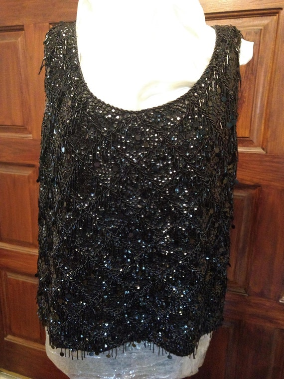 Black Sequence top.
